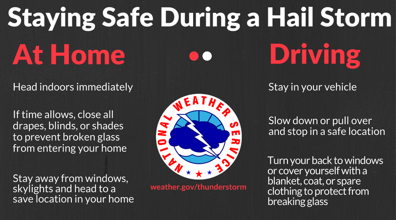 Hail Storm Safety Tips